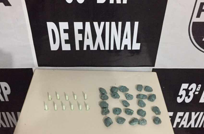 PC de Faxinal prende jovem suspeito de tráfico de drogas