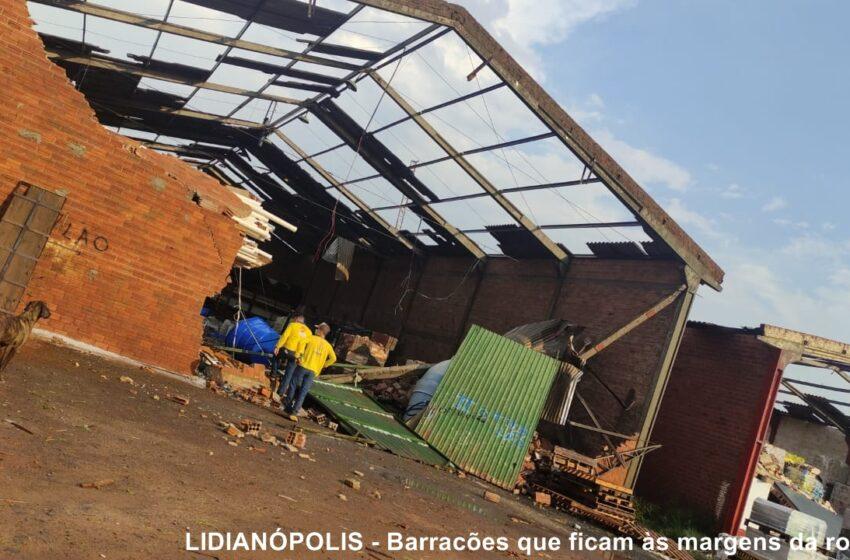 VALE DO IVAÍ – Chuva forte acompanhada de granizo provoca estragos na região