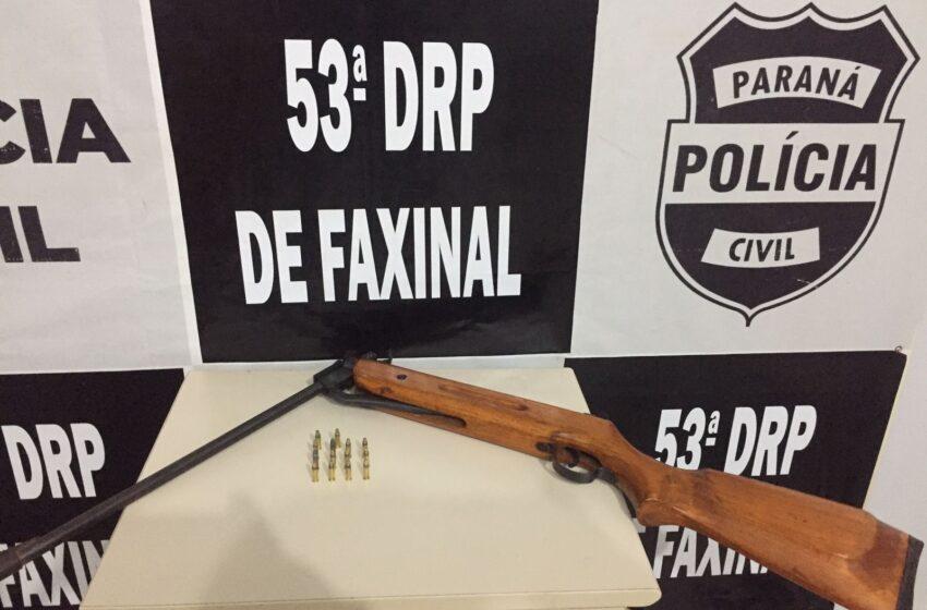 Policia Civil prende homem por porte ilegal de arma de fogo em Faxinal