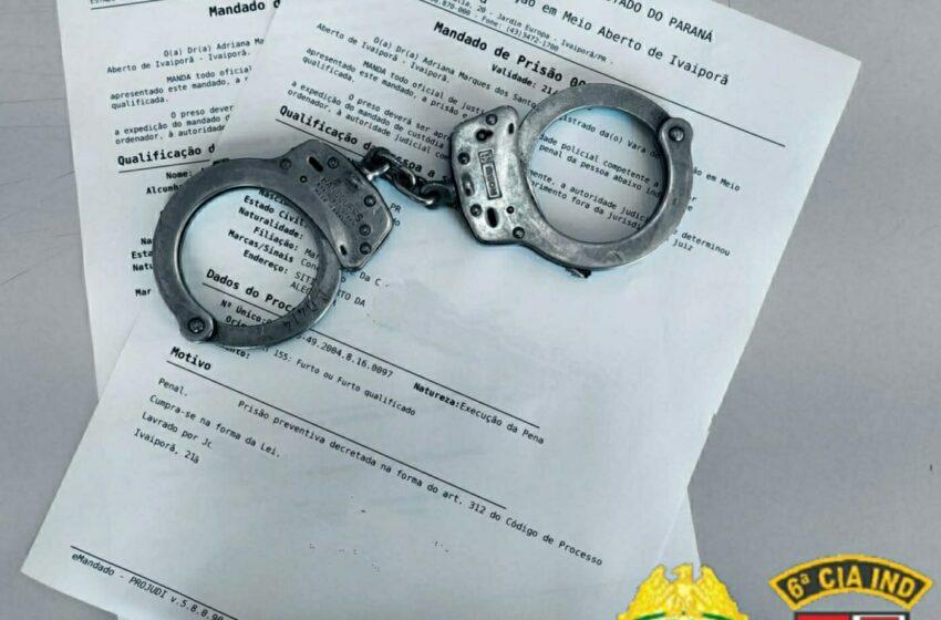 Polícia Militar cumpre mandado de prisão em Lunardelli e Faxinal
