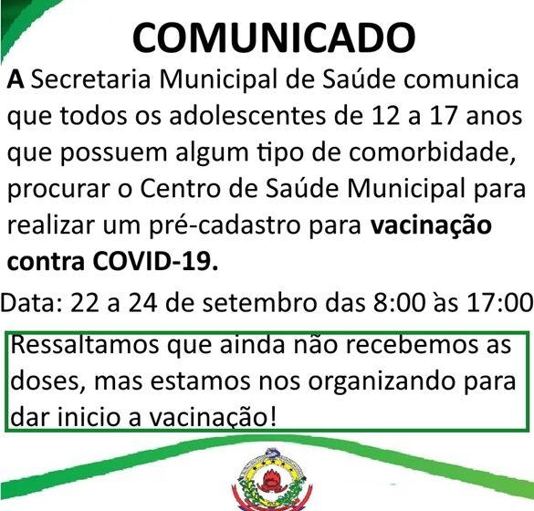 NOVO ITACOLOMI – Comunicado da Secretaria de Saúde