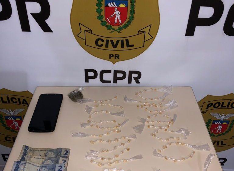 Policia Civil de Faxinal prende mulher acusada de tráfico de drogas