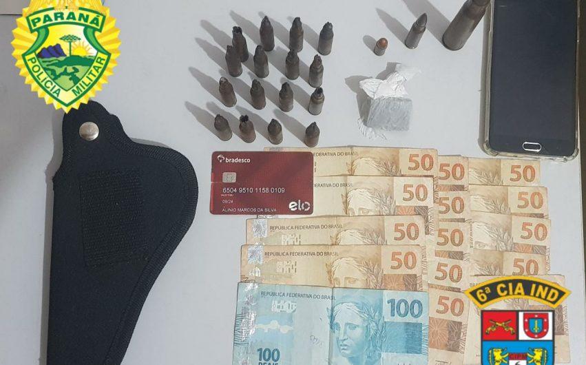 Polícia prende suspeito de tráfico de drogas com munições e maconha em Borrazópolis