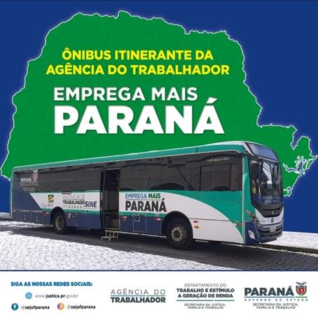 MAUÁ DA SERRA – Ônibus itinerante da agência do Trabalhador