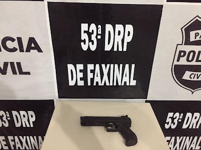 PC de Faxinal apreende arma utilizada em violência doméstica em Borrazópolis