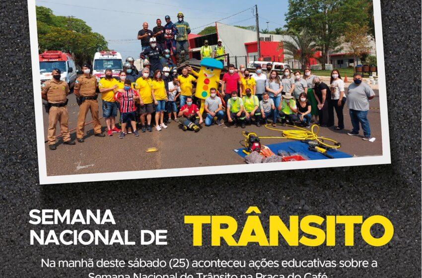 Jandaia do Sul realizou ações sobre a Semana Nacional de Trânsito