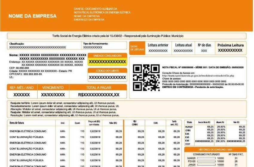 Receita lança sistema para emissão da nova Nota Fiscal de Energia Elétrica