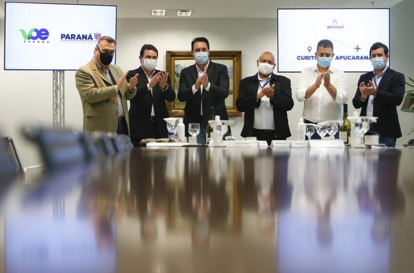 Governador confirma retorno do programa Voe Paraná ainda neste mês