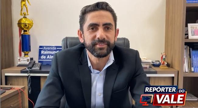 Prefeito Raimundo Almeida de Bom Sucesso concede entrevista ao Repórter do Vale