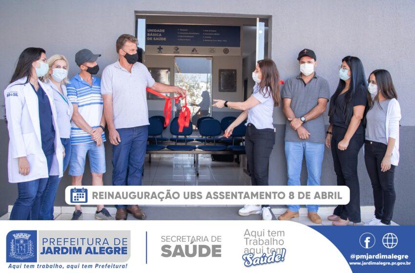 JARDIM ALEGRE – Prefeitura reinaugura Unidade Básica de Saúde (UBS) do Assentamento 8 de Abril