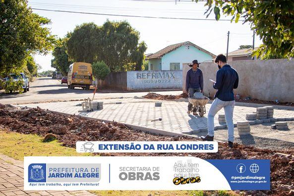 JARDIM ALEGRE – Iniciada obras de pavimentação em via pública
