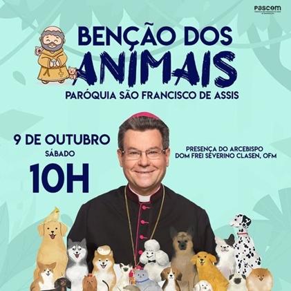 MARINGÁ – Paróquia São Francisco de Assis irá promover a bênção dos animais