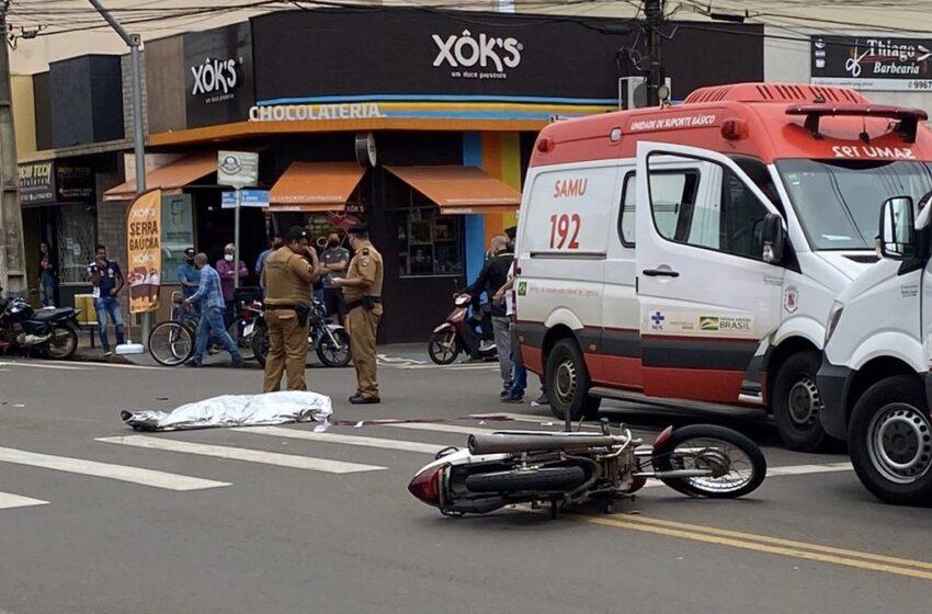 Motociclista morre em grave acidente em Arapongas