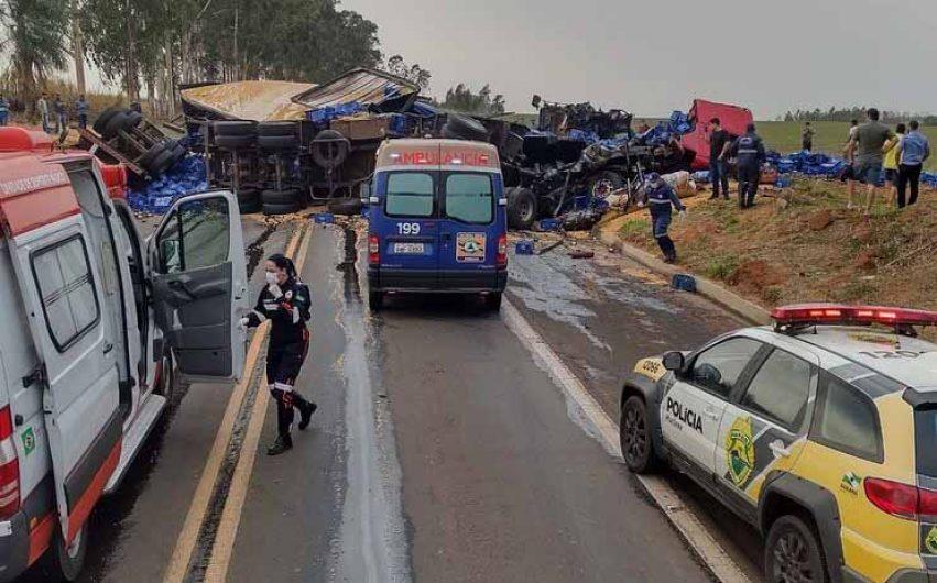 Acidente na BR-376 em Nova Londrina mata motorista de caminhão