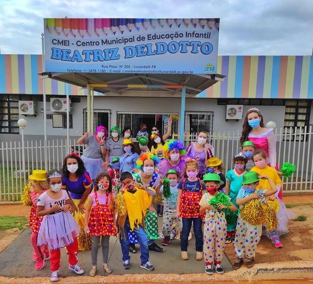 Escolas municipais de Lunardelli fizeram comemoração ao Dia das Crianças