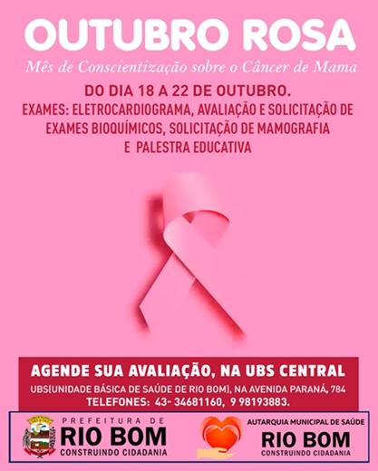 RIO BOM – Outubro Rosa
