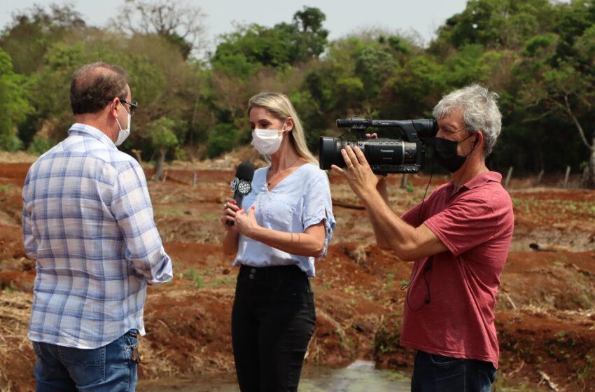 Rede Massa – SBT exibe matéria com prefeito de Ivaiporã sobre programa Cultivando Água Limpa