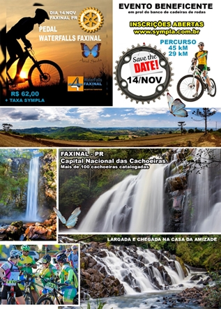 VEM AÍ – 1° Pedal Waterfalls em Faxinal