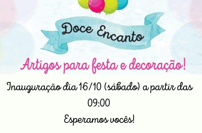 Inaugura em Borrazópolis neste sábado a Loja Doce Encanto