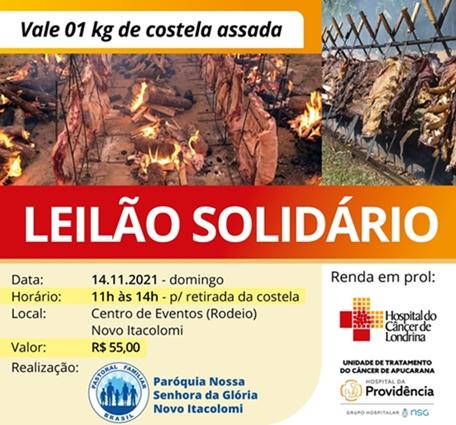 Paróquia de Novo Itacolomi promove Leilão Solidário