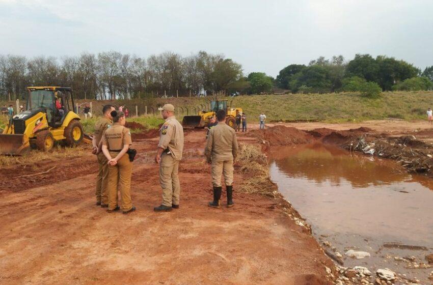Duas irmãs e um homem morrem após queda em buraco com lama em Rondon