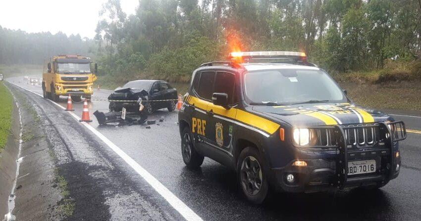 Grave acidente na BR-376 próximo a Imbaú