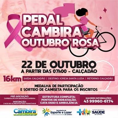 CAMBIRA – Pedal Cambira Outubro Rosa