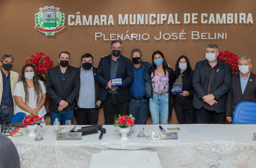 Câmara dos Vereadores de Cambira homenageia Ex-Prefeitos e Ex-Vice Prefeitos