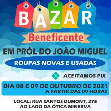 Bazar Beneficente em pról ao João Miguel em Faxinal