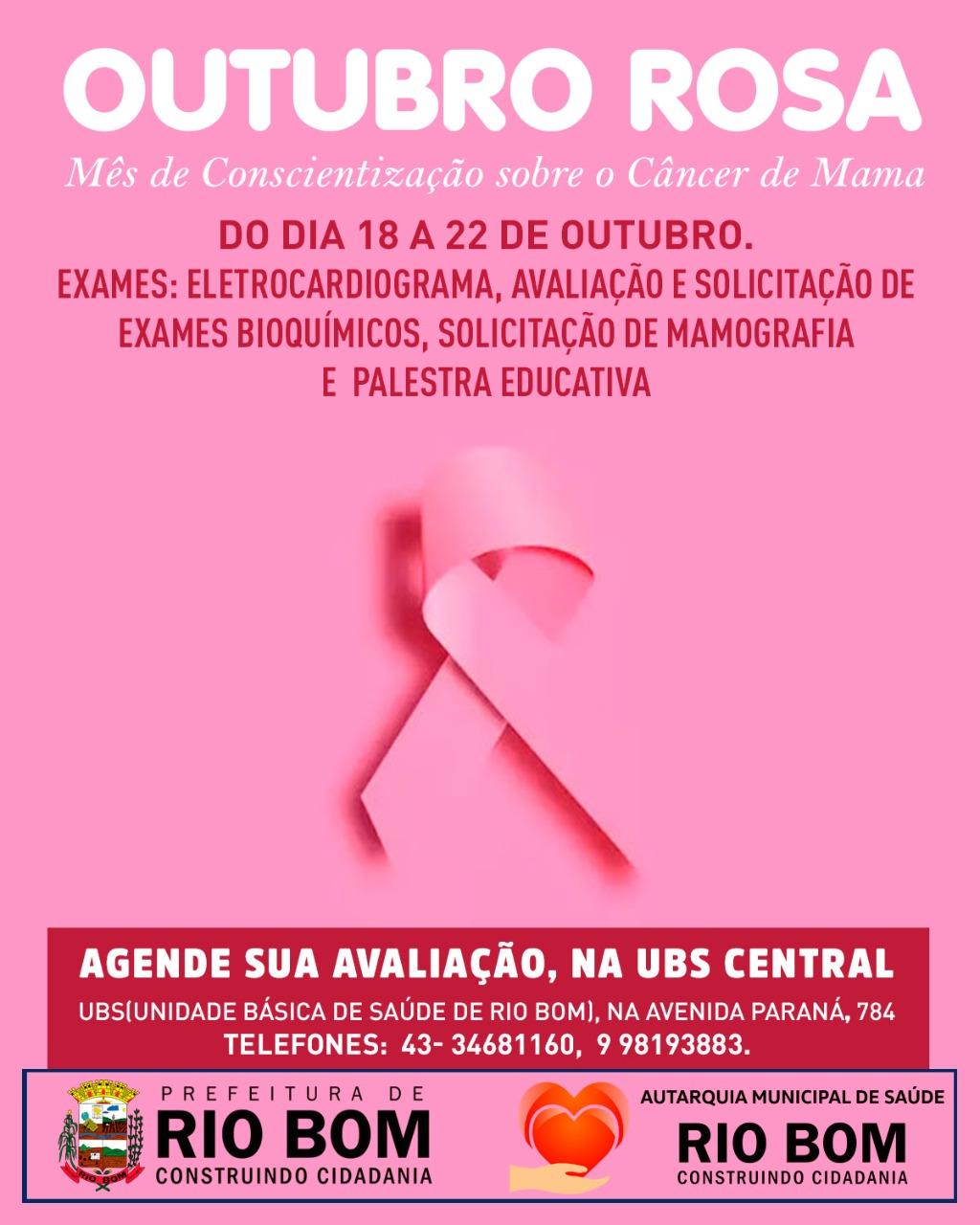 RIO BOM - Outubro Rosa