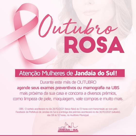 JANDAIA DO SUL – Prefeitura realiza ações de prevenção ao Outubro Rosa e sorteio de brindes