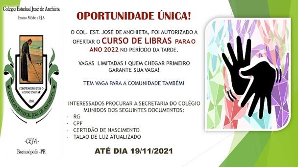 Curso de Libras no Colégio José de Anchieta em Borrazópolis