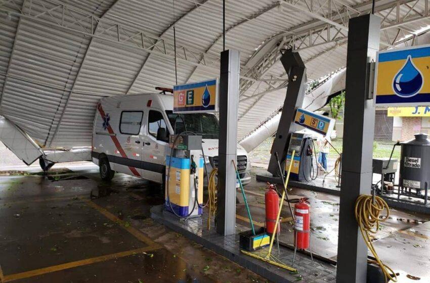 Vendaval e chuva de granizo provocam estragos em 16 municípios do Estado