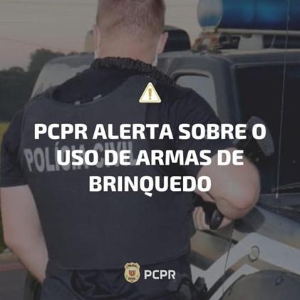 PCPR alerta a população sobre o uso de armas de brinquedo