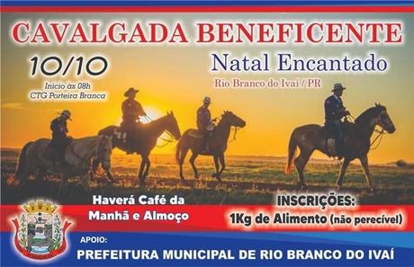 Cavalgada Beneficente em Rio Branco do Ivaí