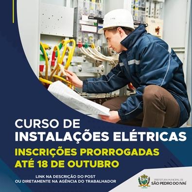 Curso de instalações elétricas é prorrogada em São Pedro do Ivaí
