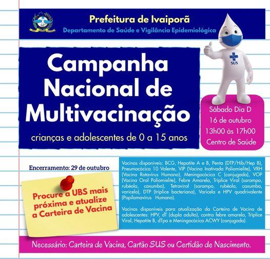Campanha Nacional de Multivacinação em Ivaiporã