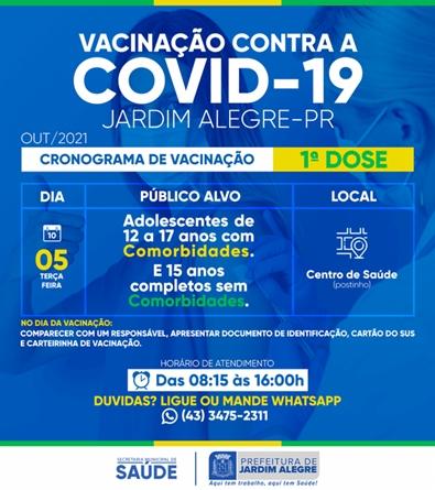 Vacinação da covid em Jardim Alegre