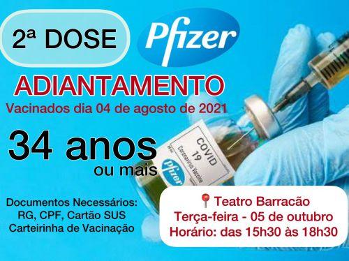 Vacinação da 2ª dose em São João do Ivaí